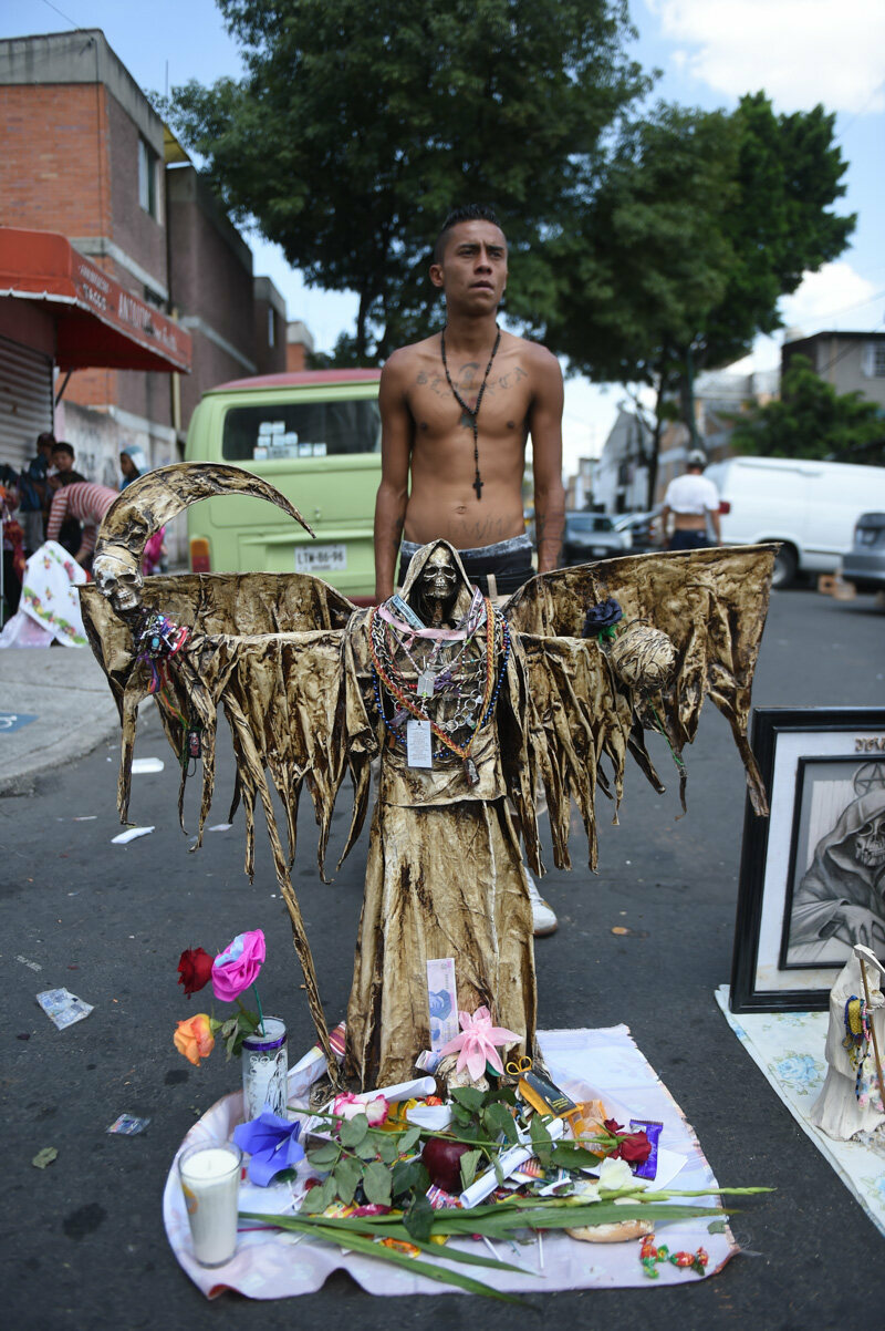 On the Street with Saint Death in Tepito, Mexico - Atlas Obscura