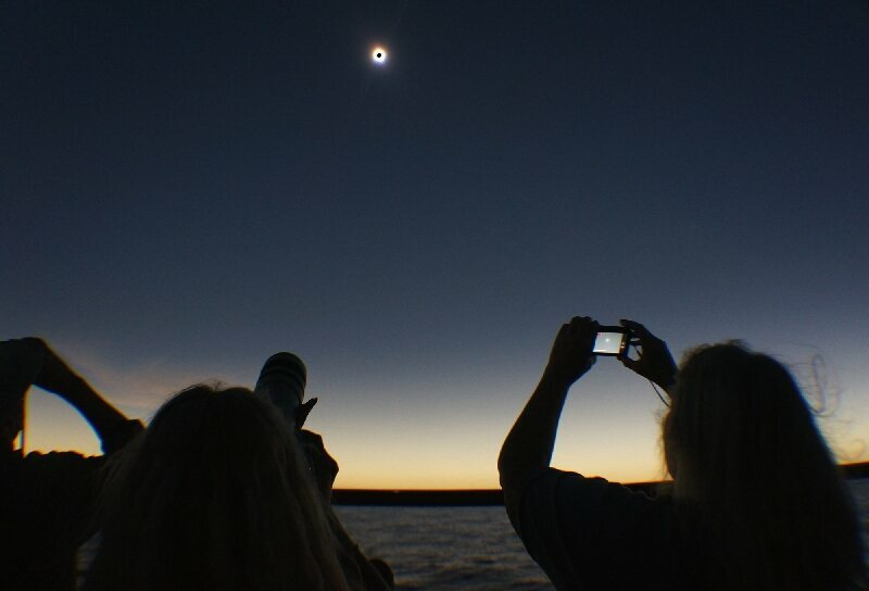 Totality, as seen from a ship in South Pacific, 2012.