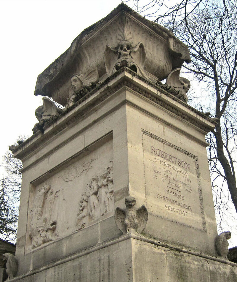 Robertson tomb Pere Lachaise Cemetery in Paris