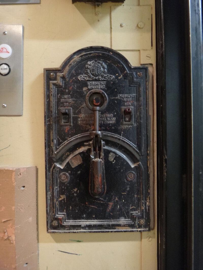 Controller On Old Sears Elevator San Antonio