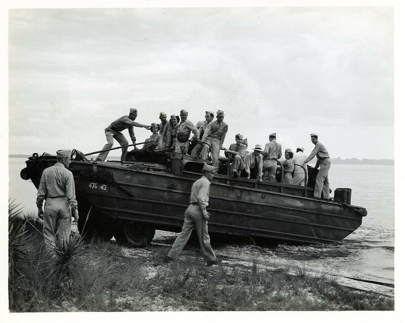 160 DUKW at Tyndall Field, Florida WWII, c 1942
