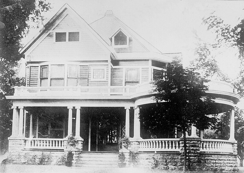 Harding's front porch. When he was campaigning in 1920, the whole place would be mobbed. (Photo: Library of Congress)