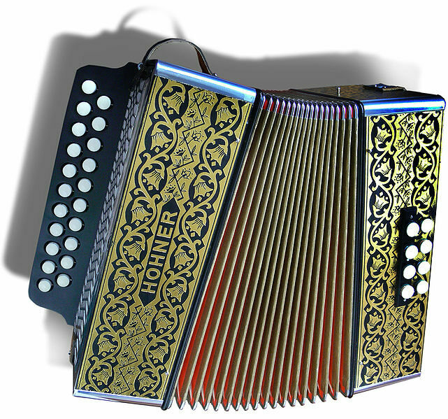 Louisiana's state musical instrument, the diatonic accordion