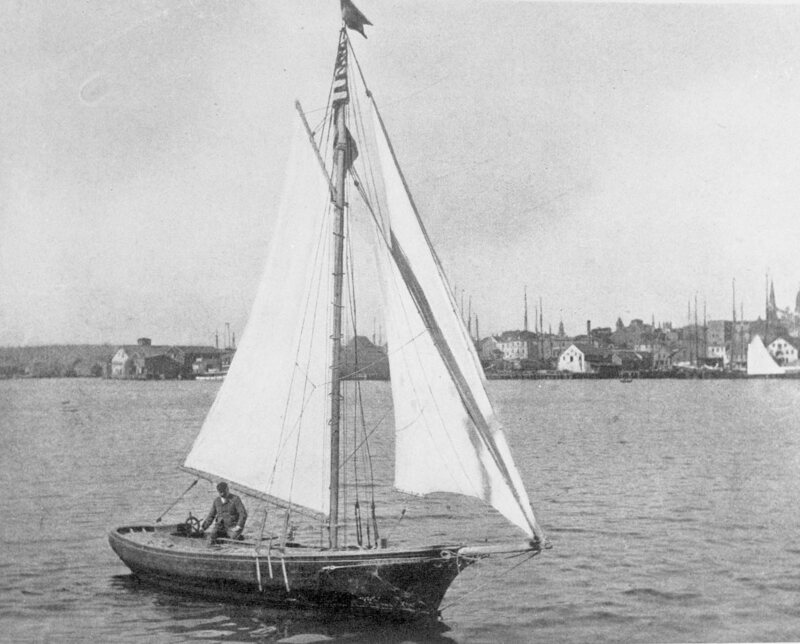 The Man Who Sailed Across the Atlantic    Without the Benefit of