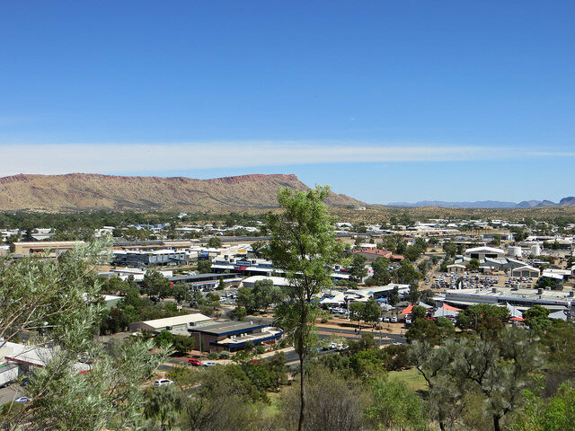 The view of Alice Springs from Anzac Hil