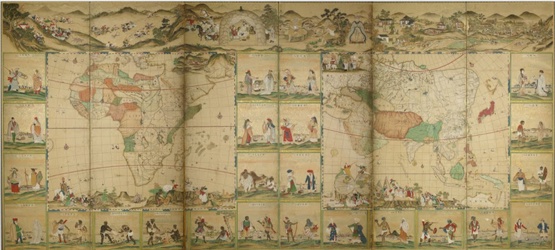 The maps that helped the citizens of a locked country see the half of screens of the four continents and people in 48 countries in the world gumiabroncs Gallery