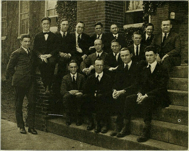 Members of the Flat Hat Club in the 1921 College of William and Mary's student yearbook