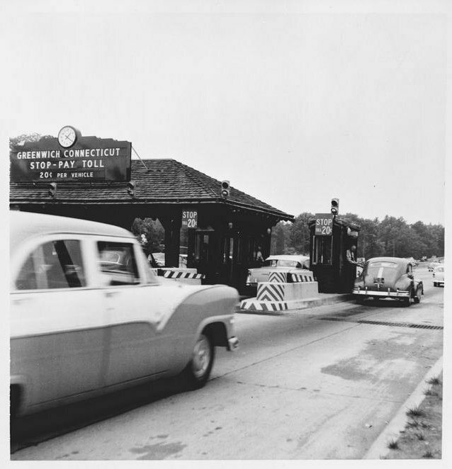 Merritt Parkway Tollbooth in Connecticut, in 1955