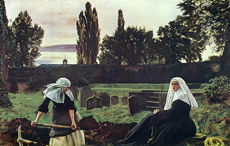 """The Vale of Rest"" by John Everett Millais, 1858."