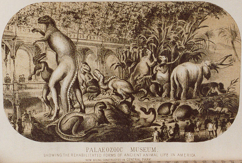 Hawkins' conceptual drawing of the Paleozoic Museum.