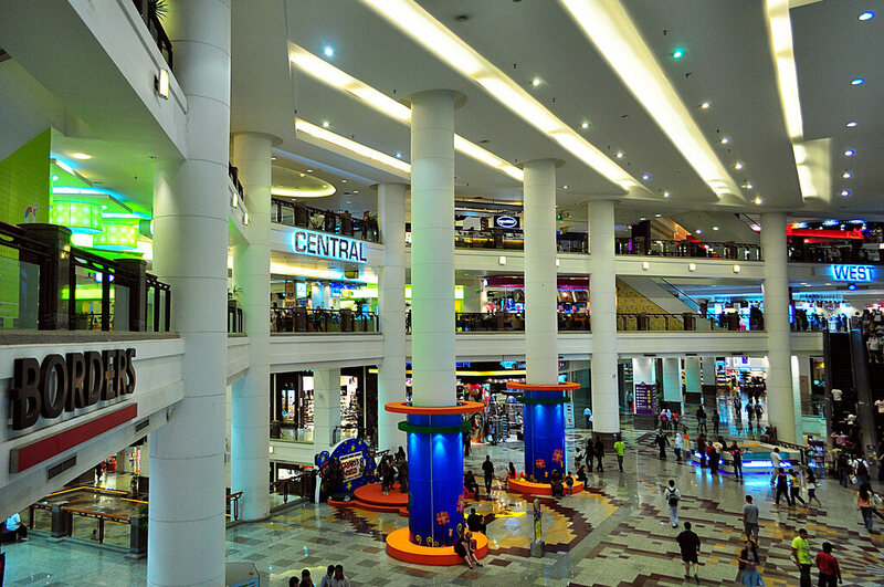 The Berjaya Times Square mall in Kuala Lumpur, where Borders is still going strong.