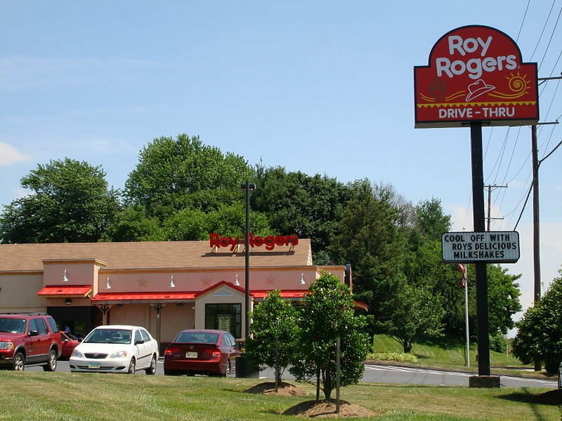 More details Roy Rogers Restaurant in Westminster, Maryland, in a former Gino's building, owned by the Plamondon Companies, remodeled in 2007.