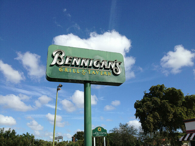 Bennigan's restaurant in Florida