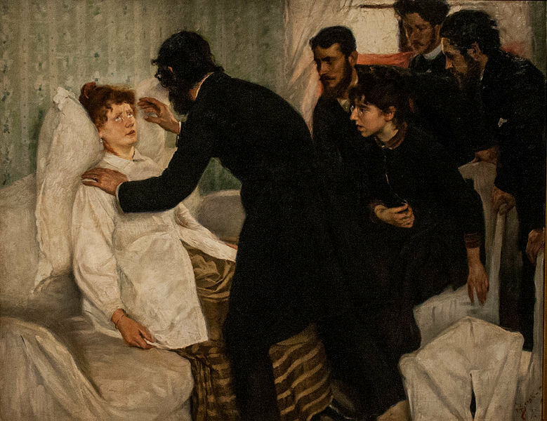 "The 1887 painting ""Hypnotic séance"", by Richard Bergh"
