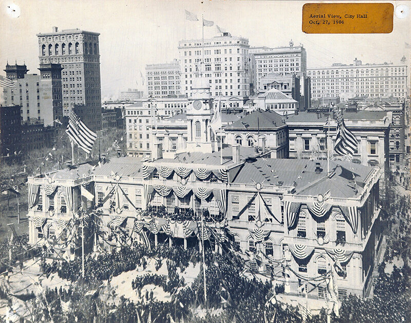 Opening day ceremony for the first subway line at City Hall, October 27, 1904