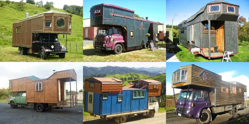 A variety of House Trucks on Mike Sant's website, htnz.co.nz.