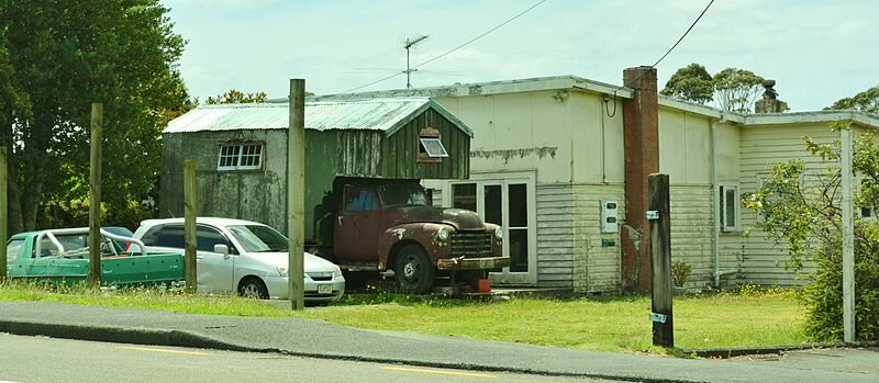 Chev House Truck at Massey, West Auckland, New Zealand.