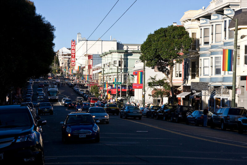 The Castro district in San Francisco, one of first gay neighborhoods in the US.