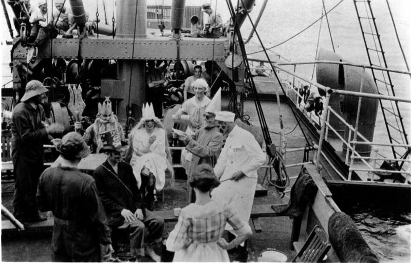 A Neptune party to celebrate crossing the equator, 1923.