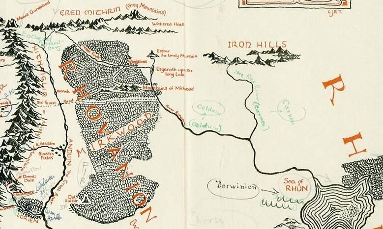 FOUND: A Map of Middle Earth, Annotated by Tolkien Himself   Atlas