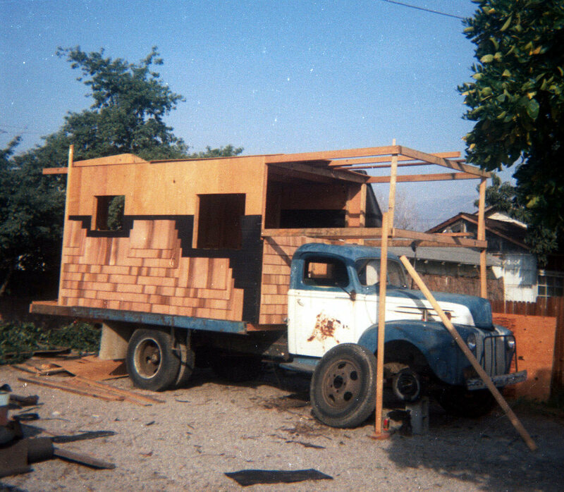 Construction on a house truck.