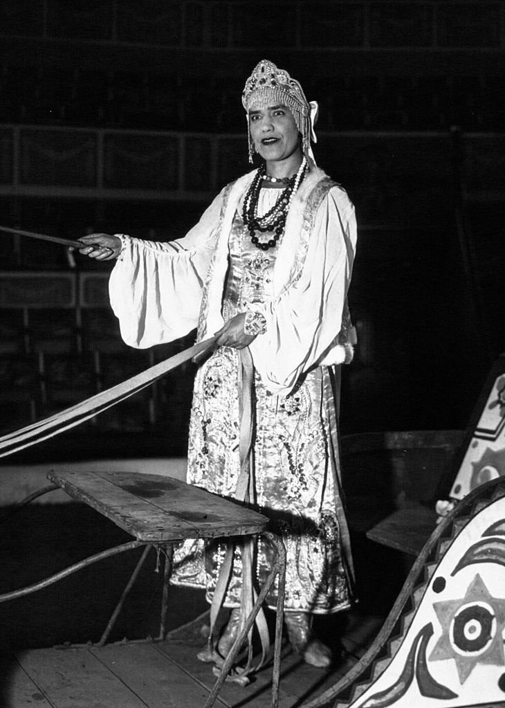 Maria Rasputin as a circus performer in 1932.