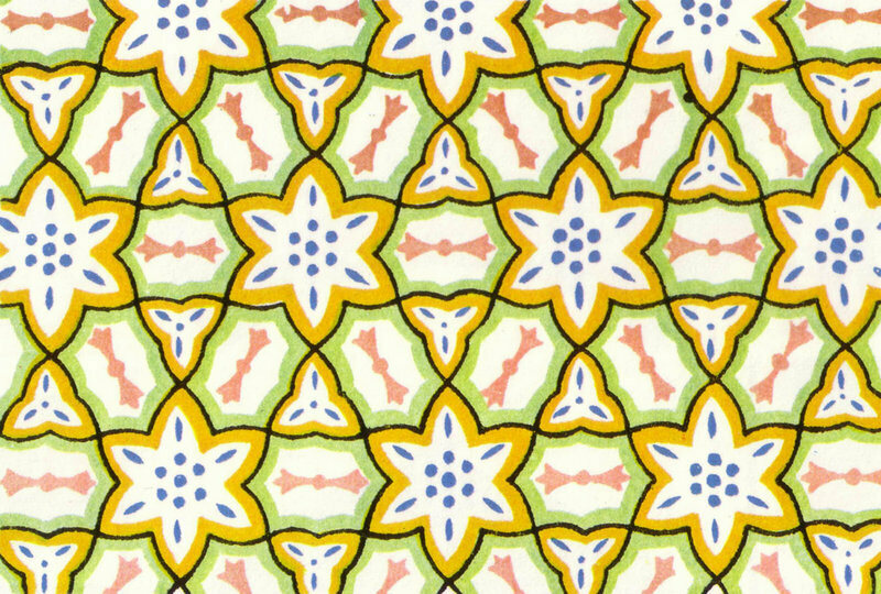 A Kaleidoscope-esq wallpaper pattern from 1856