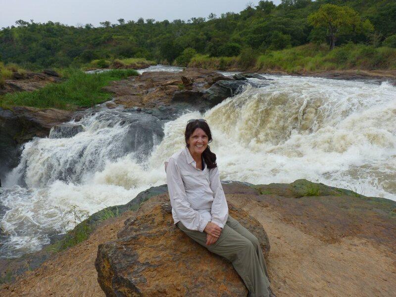 Pamela at Murchison Falls, Uganda