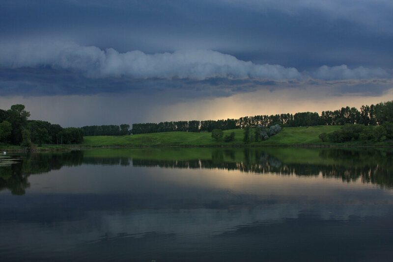 A storm approaches in North Dakota.