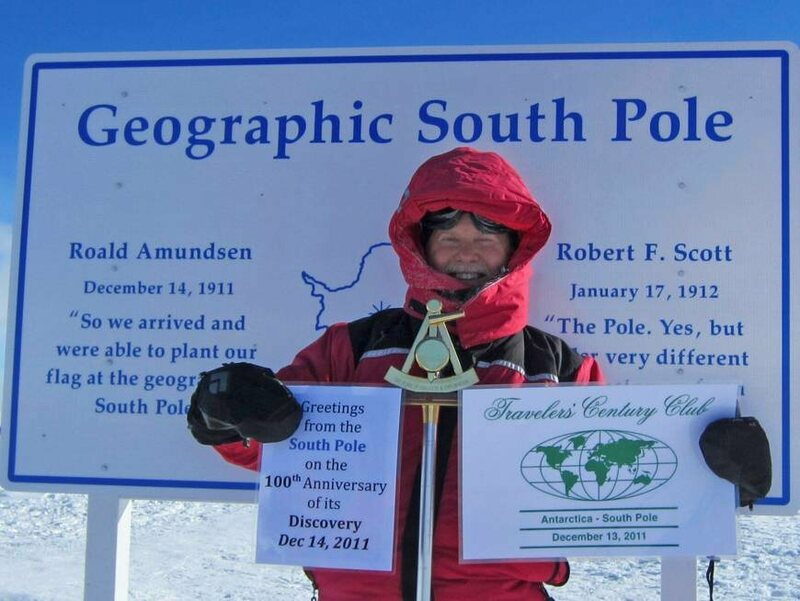 Donald Parrish visiting the South Pole in 2011 on the 100th Anniversary