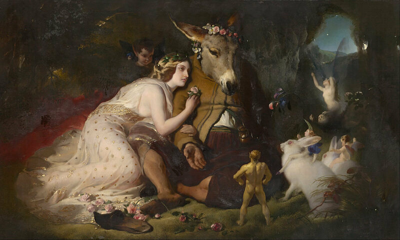 Edwin Landseer, Scene from A Midsummer Night's Dream. Titania and Bottom
