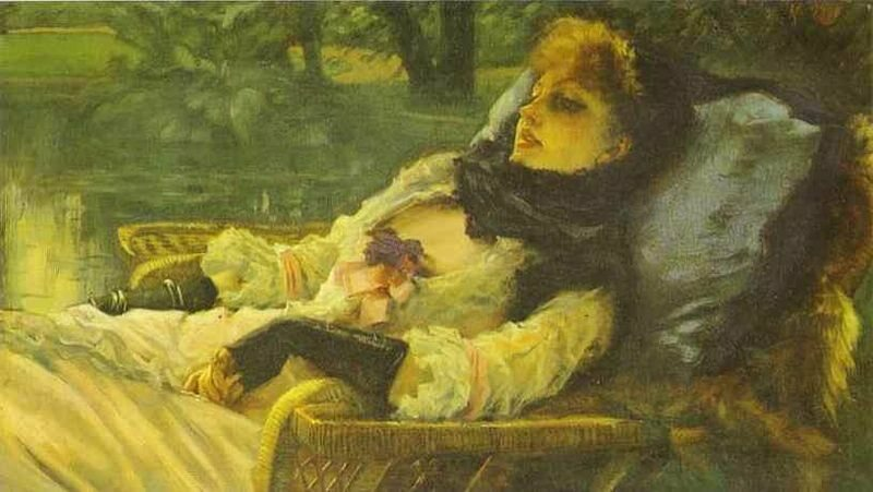 James Tissot's The Dreamer (Summer Evening), painted in 1871