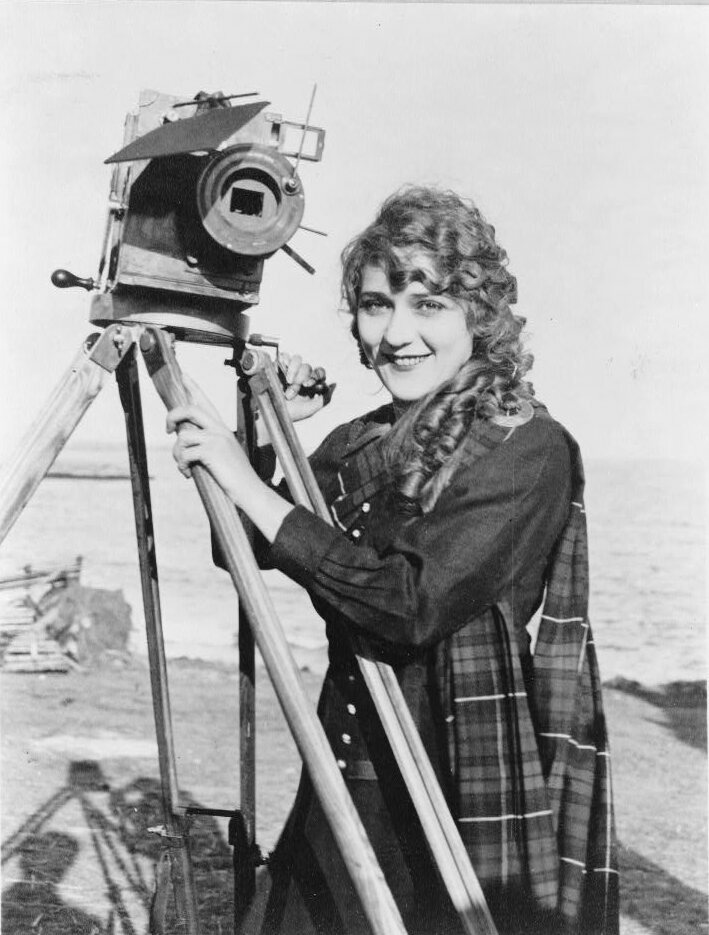 Mary Pickford with a camera, c. 1916