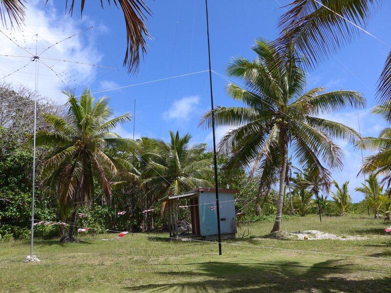 The antennas on Niue: (Photo: Hilary Claytonsmith)