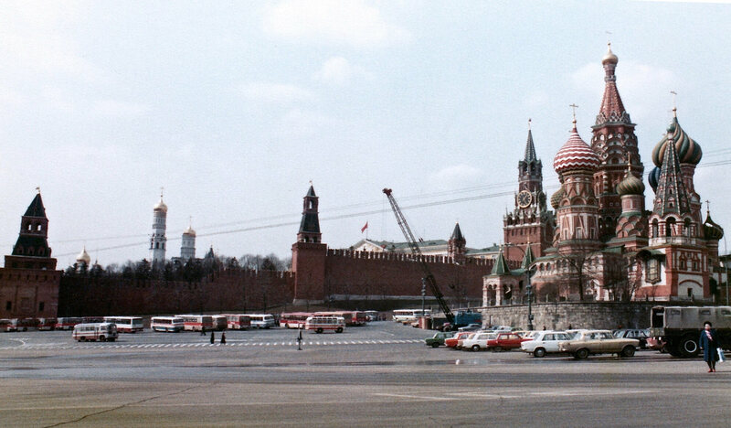 Moscow's Red Square, early 1980s