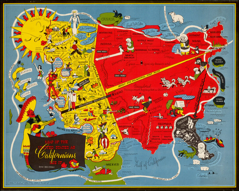 Northeasterners Were Always SnobsAnd These Maps Prove It Atlas - Famous new yorkers map of us