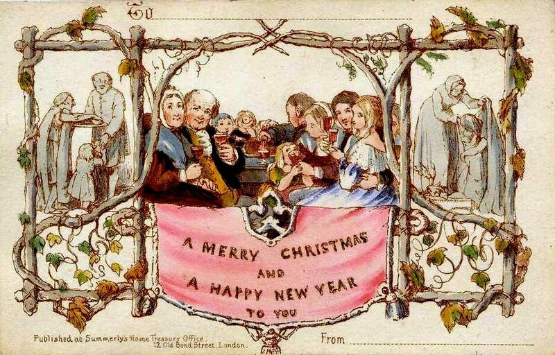 The world's first commercially produced Christmas card