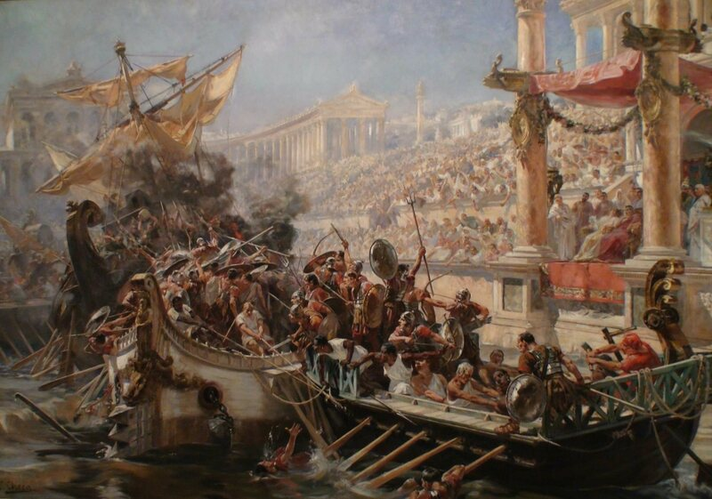 Romans Once Filled The Colosseum With Water And Staged An Epic Mock Sea Battle