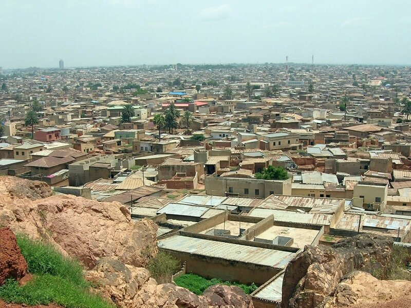 An aerial view of Kano.