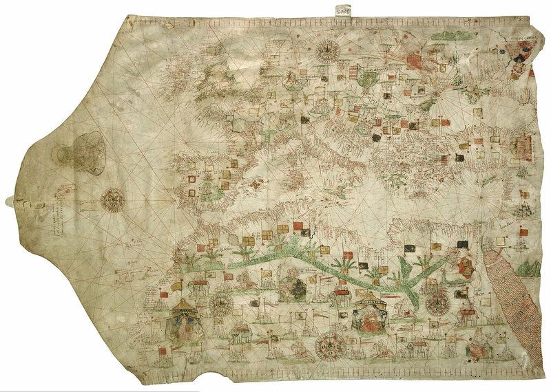 A vellum map from 1533.