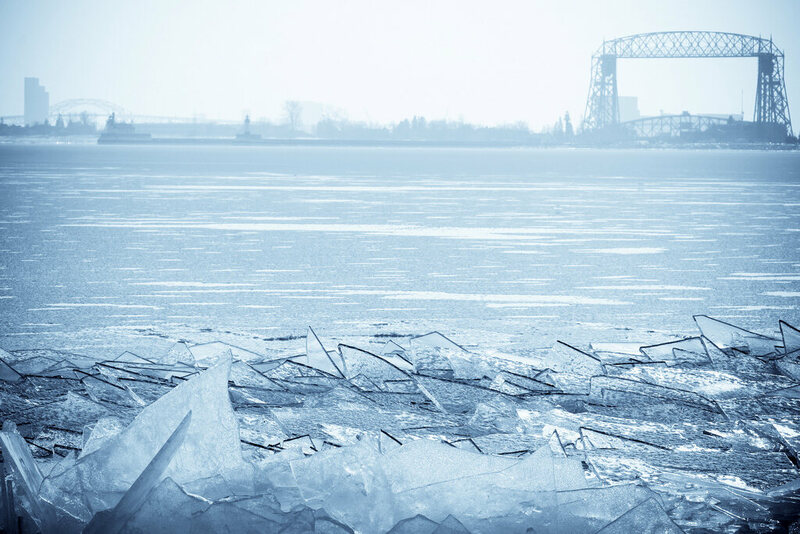 A crop of stacked ice in Duluth, Michigan. (Photo: Sharon Mollerus/Flickr)