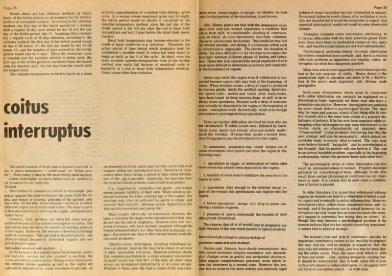 Pages from the 2nd edition of <em>The Birth Control Handbook</em>.