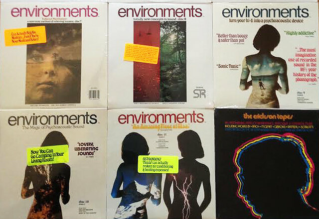 "A selection of Environments albums, plus one other Teibel venture, ""The Erickson Tapes."""