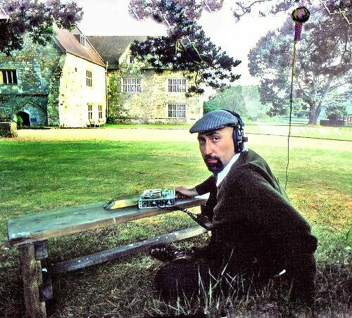 Teibel recording in the British countryside in the late 1970s.