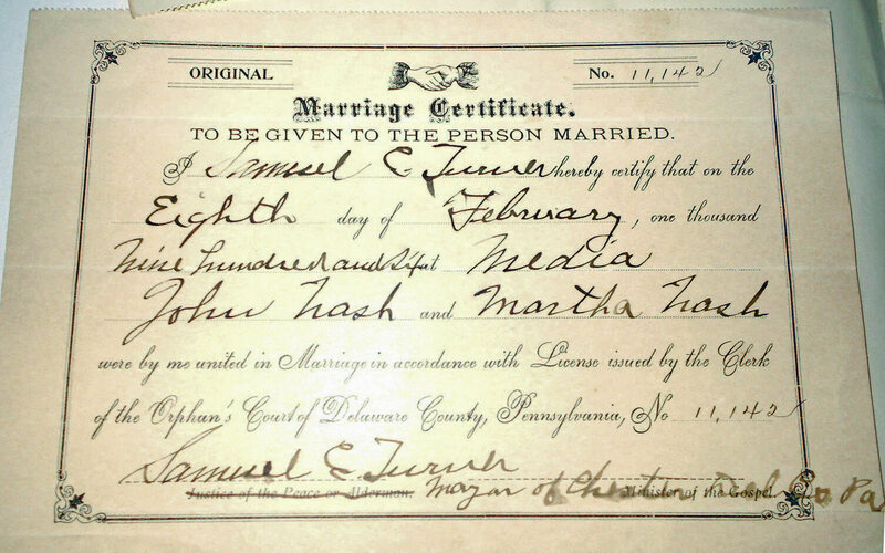 state of pennsylvania marriage certificate