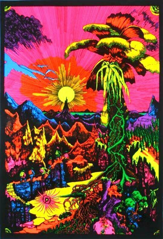 Trippy Blacklight Posters From The Psychedelic Heyday Atlas Obscura