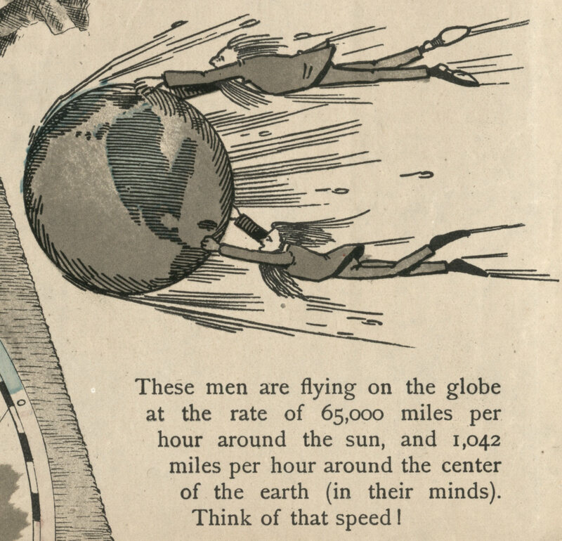 A 19th Century Map of Our 'Square and Stationary' Earth   Atlas