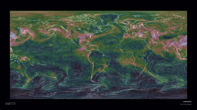 Live Earth Wind Map.Get Hypnotized By This Interactive Map Of The Winds Atlas Obscura