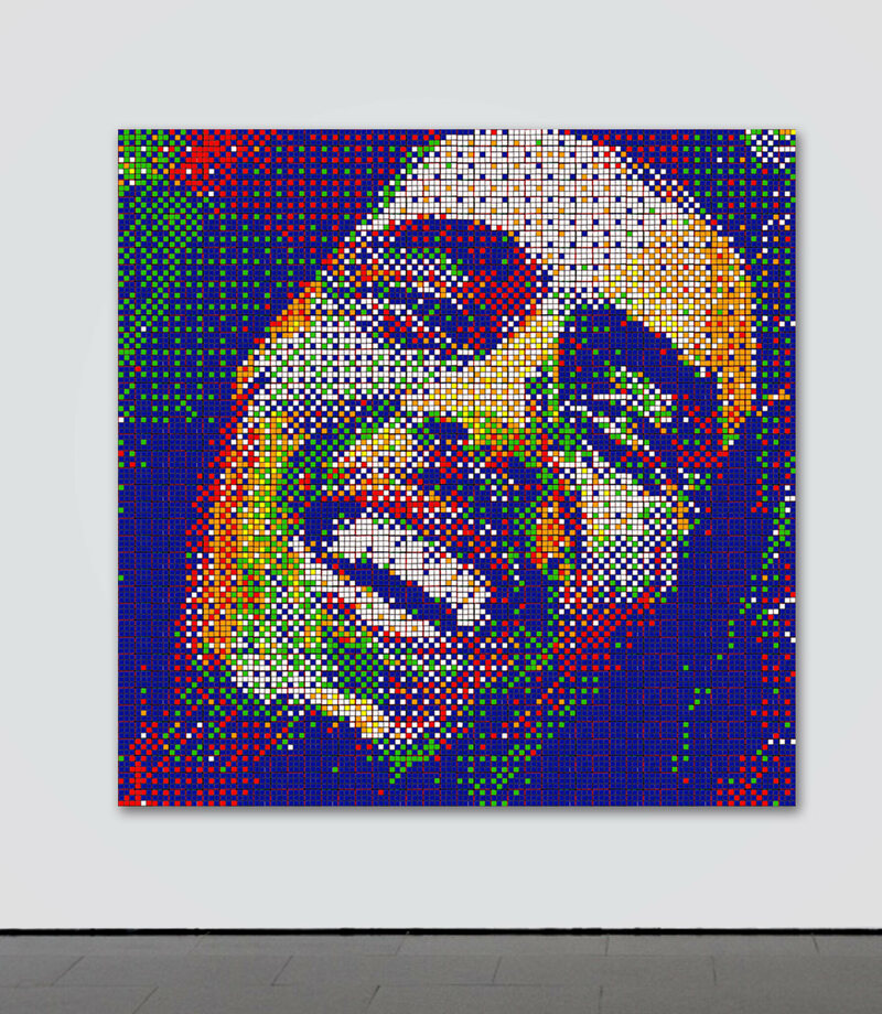 Cube strips of Bob Marley.