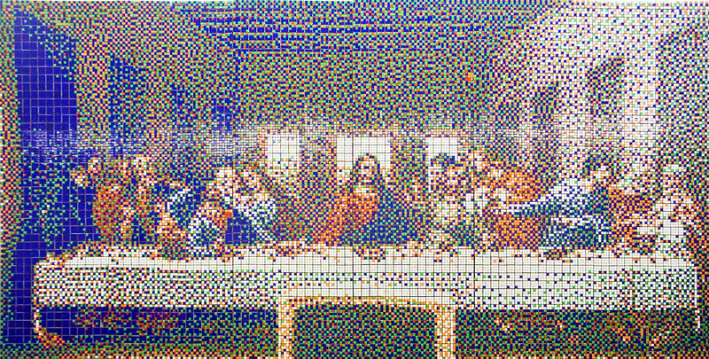 "First large-scale mural of ""The Last Supper"""
